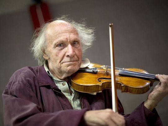 Israeli violonist Ivry Gitlis
