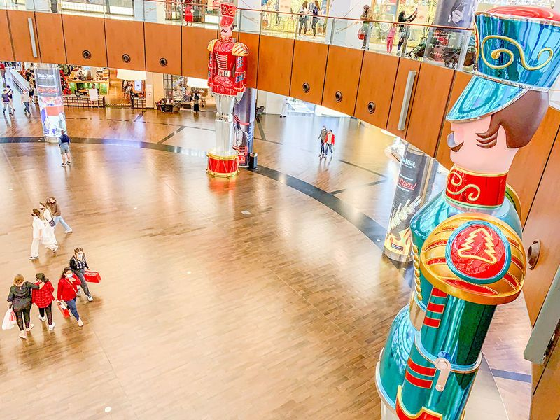 Christmas decorations at The Dubai Mall. Dubai.