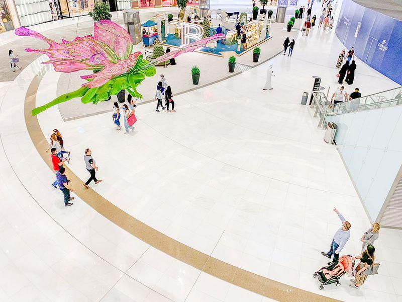 Christmas decorations at The Dubai Mall.