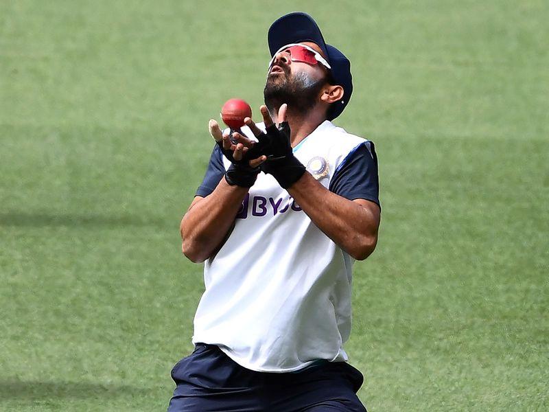 India's Ajiknya Rahane diring training in Melbourne