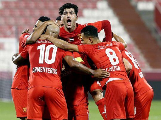 Shabab Al Ahli Dubai take on Bani Yas in the Arabian Gulf League