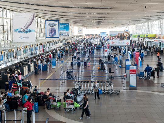 Interior of Chile's Santiago international airport.