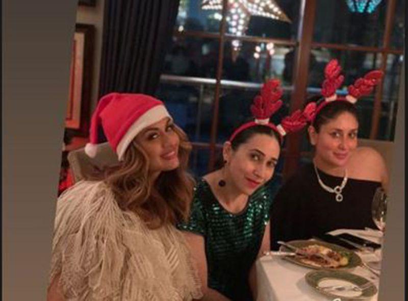 Natasha Poonawalla with Karisma Kapoor and Kareena Kapoor Khan