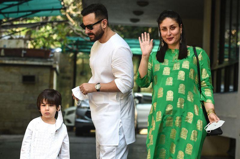Taimur and Saif Ali Khan with Kareena Kapoor Khan