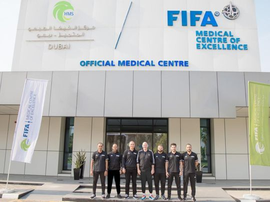 Fifa President Gianni Infantino at the Fifa Centre of Medical Excellence (FCME)