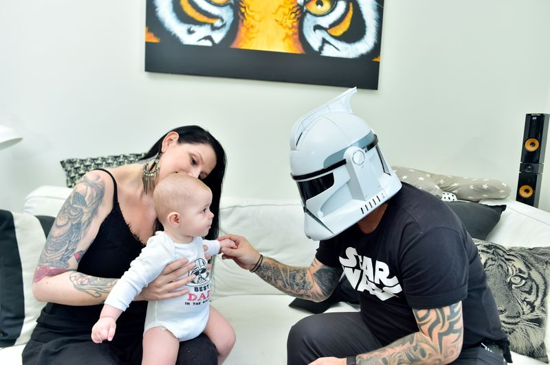 'Star Wars' super fans Will Janssen and his family
