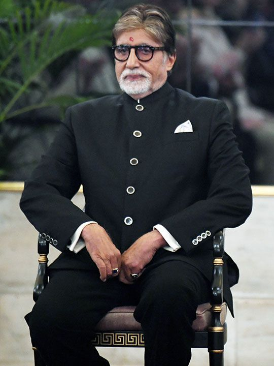 Amitabh Bachchan waits before receiving Dadasaheb Phalke Award from President Ram Nath Kovind at Rashtrapati Bhavan in New Delhi on Sunday.