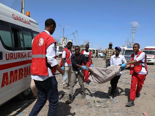 Civilians carry the dead body