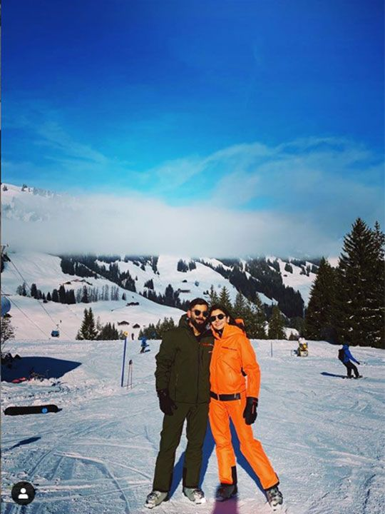 Virat Kohli-Anushka Sharma enjoying their snowy Vacation In Switzerland.