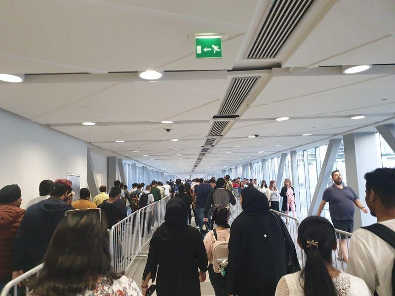 NYE DUbai Mall Metro