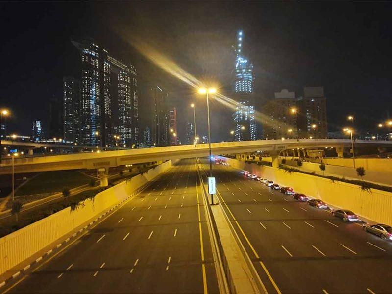 Sheikh Zayed raod closed