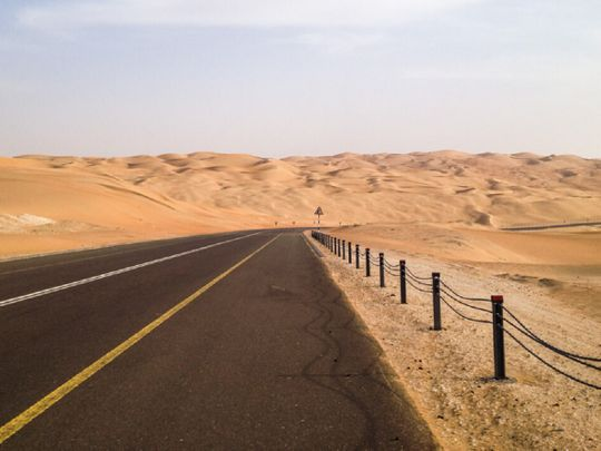 The road to Liwa, Abu Dhabi.