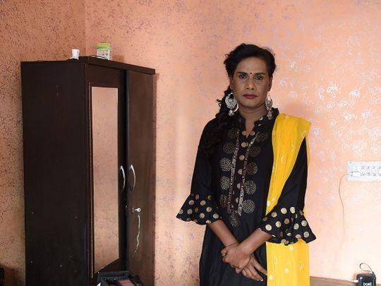 Transgender freelance make-up artist Tulsi Chandra
