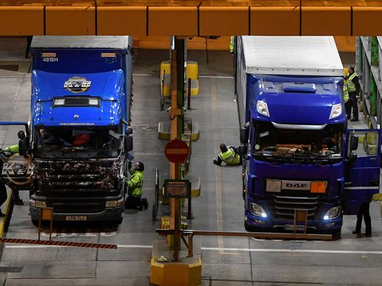 Freight lorries Dover Brexit