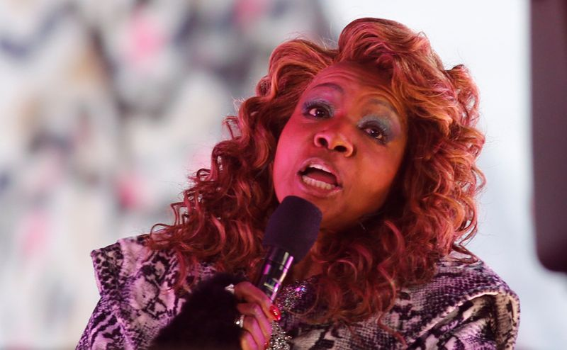 Gloria Gaynor performs in Times Square on New Years Eve in New York City, U.S., December 31, 2020. Gary Hershorn/Pool via REUTERS