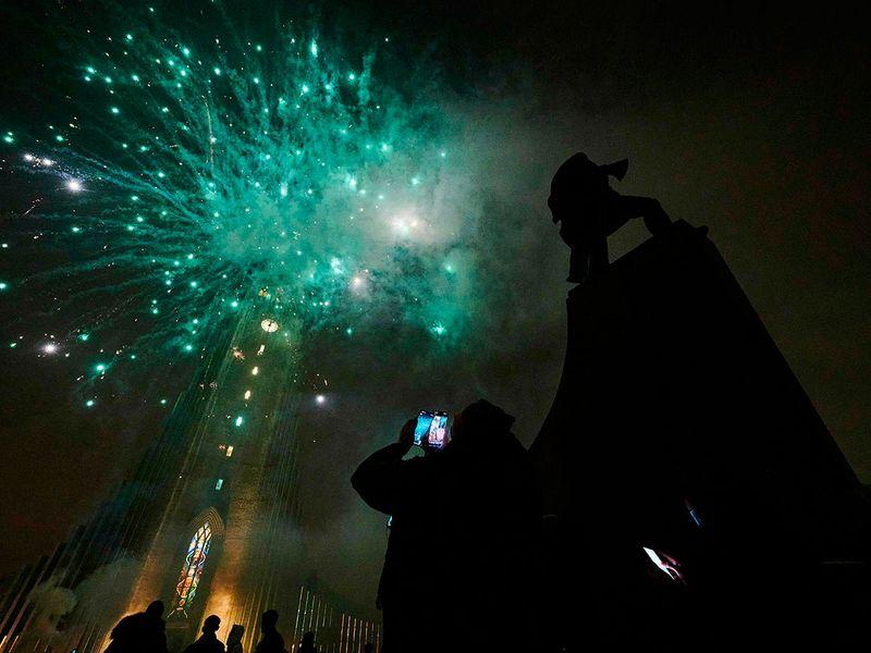 Iceland fireworks