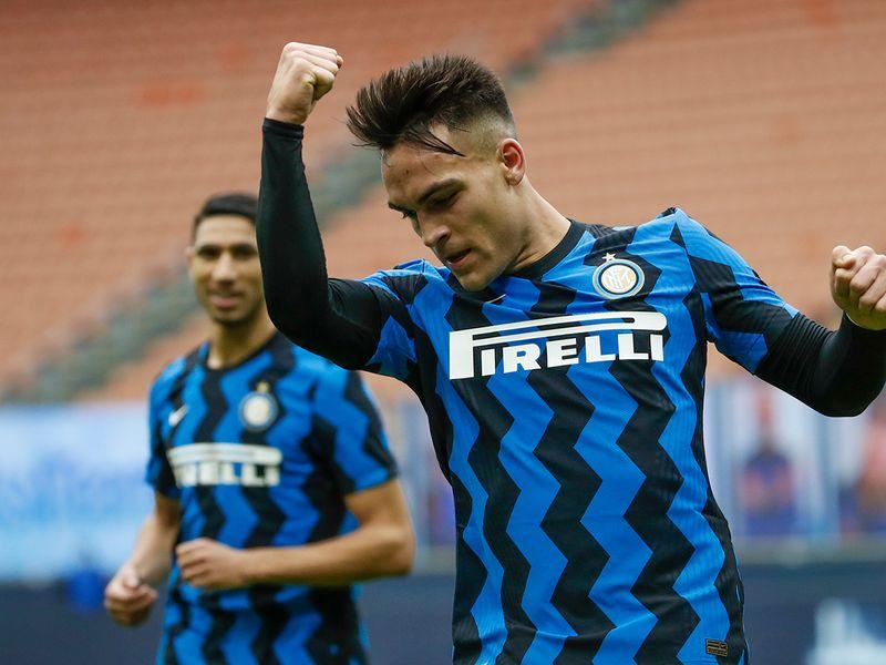 Inter Milan's Lautaro Martinez hit a hat-trick against Crotone