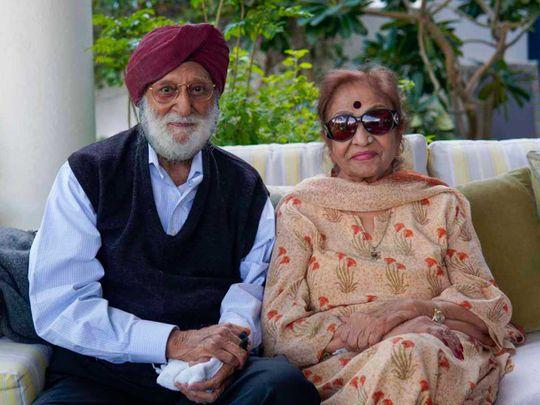 Jagjit Singh and wife Sudershan Kaur, 92