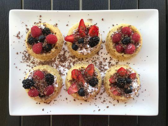 Raspberry and Blueberry shortcake stacks