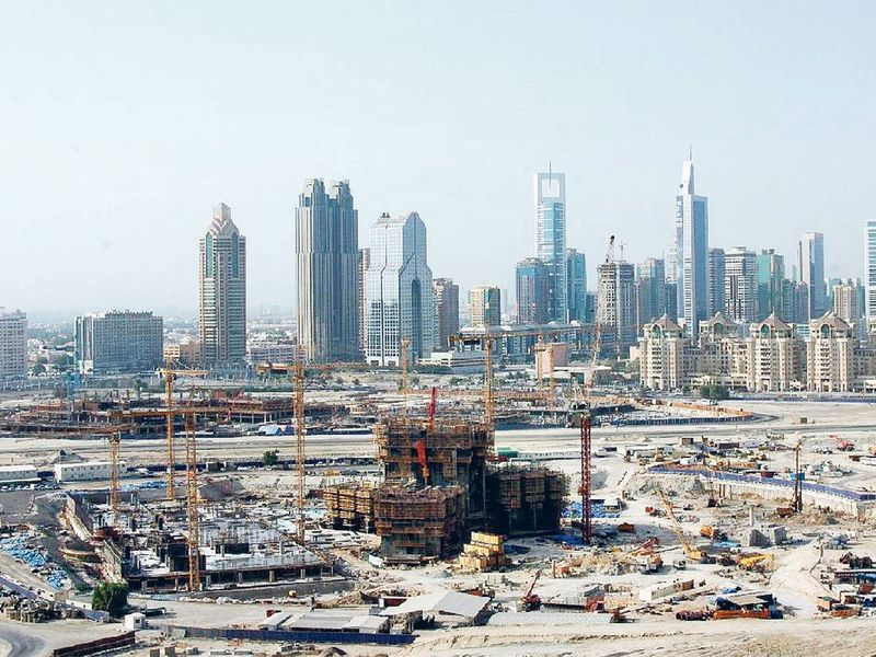 Burj Khalifa construction 2005