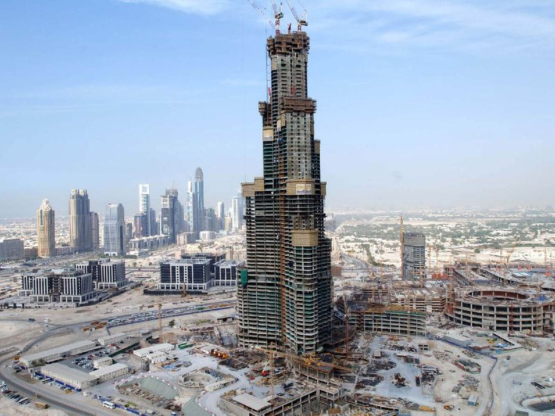 Burj Khalifa construction 2006