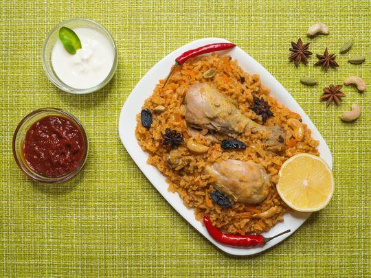 Chicken Rice Boukari (Arabic)