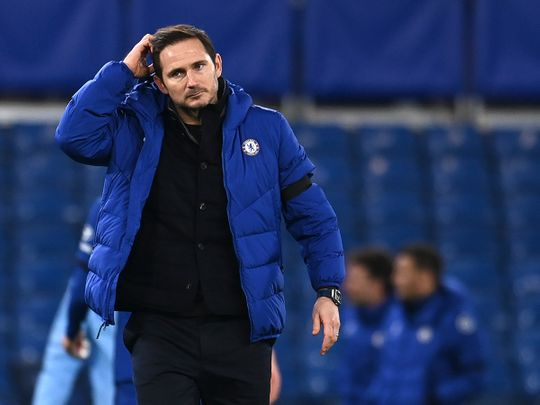 Frank Lampard is under pressure after the loss to Manchester City