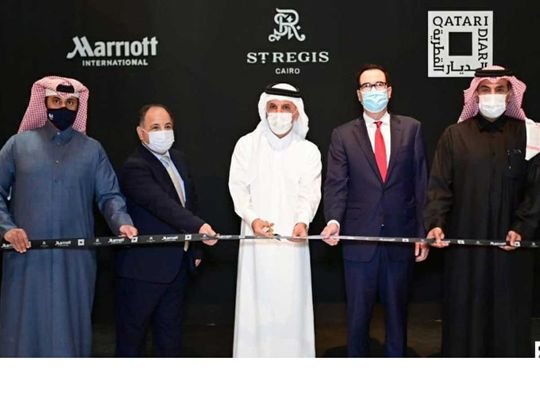 Qatari, Egyptian and US officials open Nile hotel in Cairo