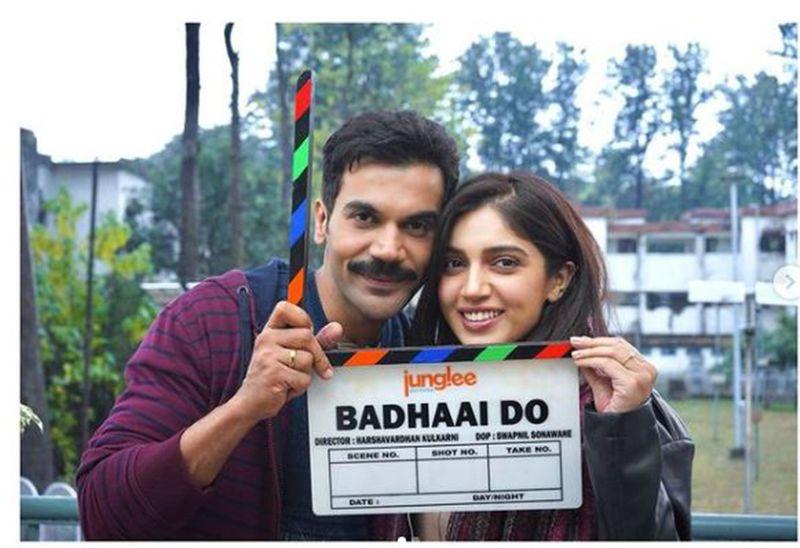 Rajkummar Rao and Bhumi Pednekar for Badhaai Do