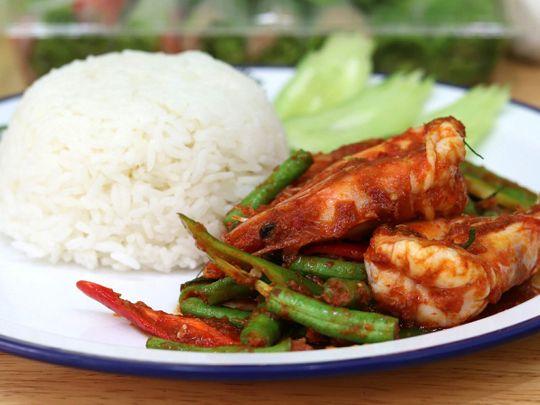 Singapore chilli prawns