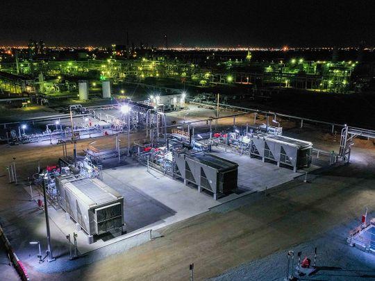 Stock Sharjah gas storage