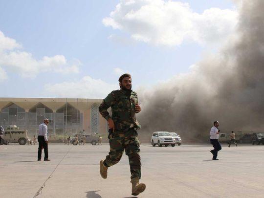 Yemen blast aden airport