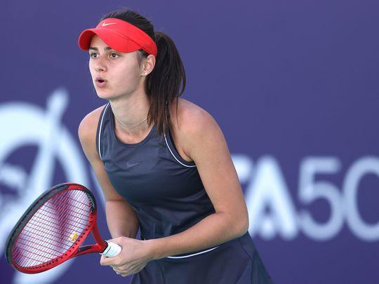 Anastasia Gasanova in action in Abu Dhabi