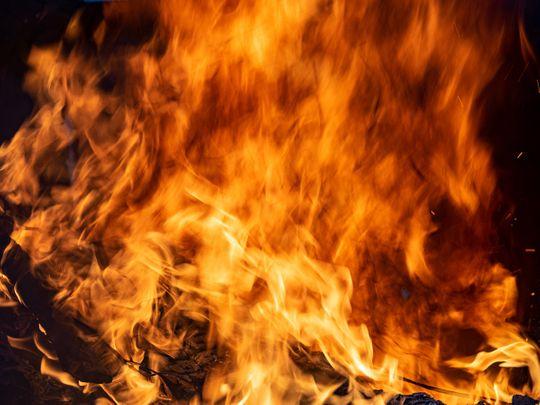 Building fire, fire