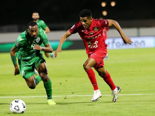 Shabab Al Ahli Dubai defeated Khor Fakkan in the Arabian Gulf Cup