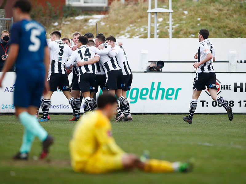 Chorley celebrate against Derby County