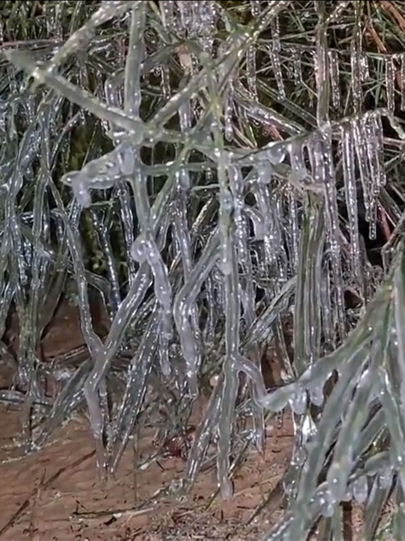 On Saturday, the Instagram account shared another video of icicles spotted in Al Ain.