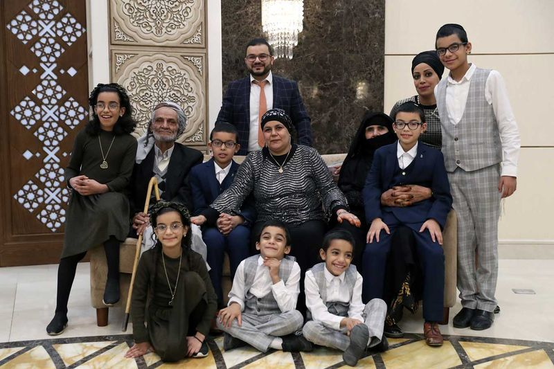 Family portrait Jewish family reunited in UAE