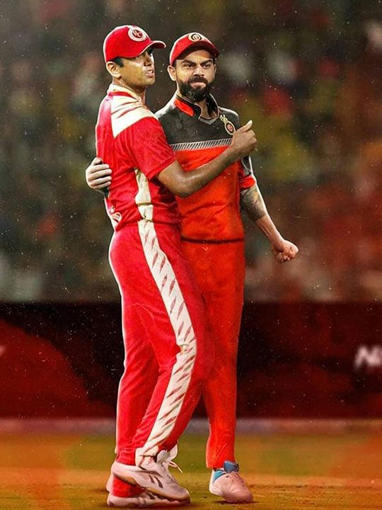 Rahul Dravid and Virat Kohli