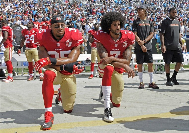 Colin Kaepernick instigated a global movement by 'taking a knee'