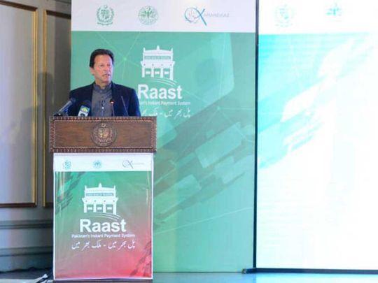 Imran Khan Raast digital payment Pakistan