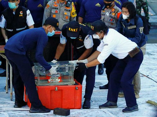 Indonesia plane crash black box