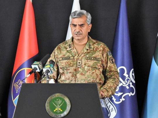 Pakistan's armed forces spokesperson, Major General Babar Iftikhar