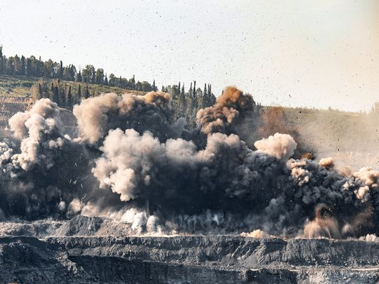 gold mine explosion