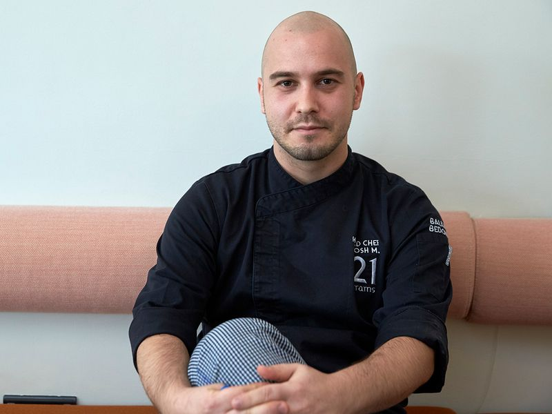 Head chef Urosh Mitrasinovic of the restaurant 21grams