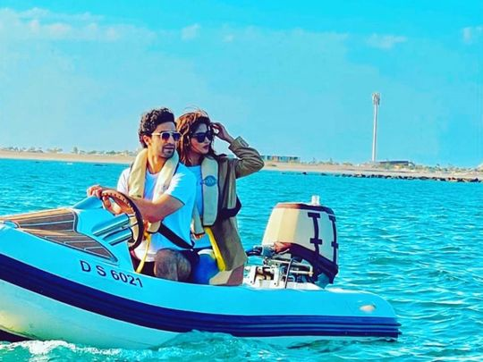 Sajal Alu and Ahad Raza Mir  in Dubai