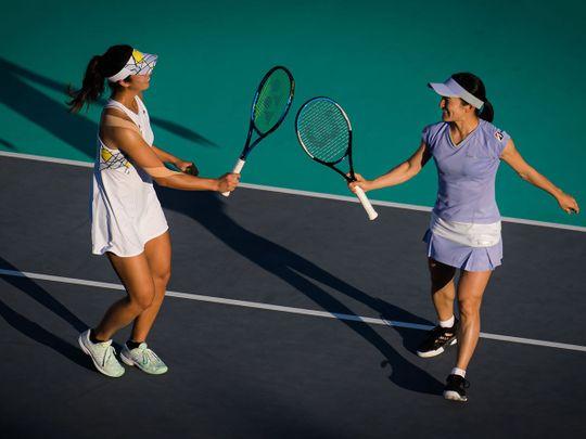 Shuko Aoyama and Ena Shibahara won the Abu Dhabi WTA Women's Open