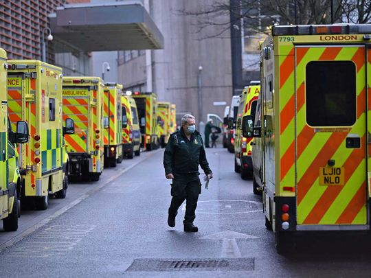 UK ambulance paramedic