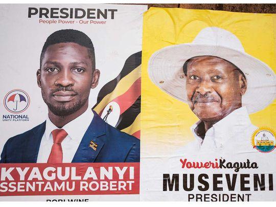 Uganda posters Museveni Boby Wine