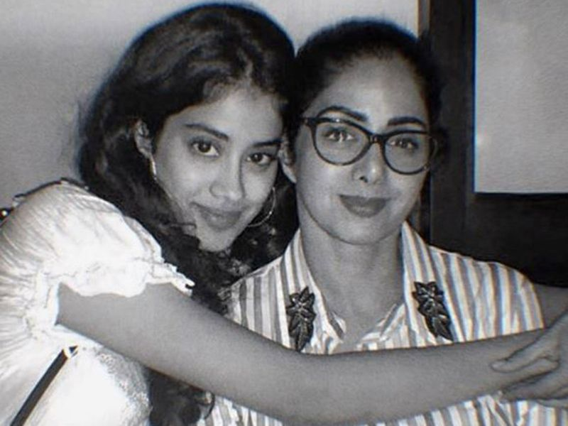 Jhanvi Kapoor with SriDevi